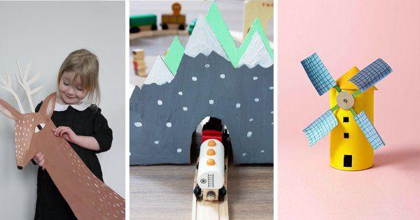 Récup: 10 DIY en carton pour les enfants