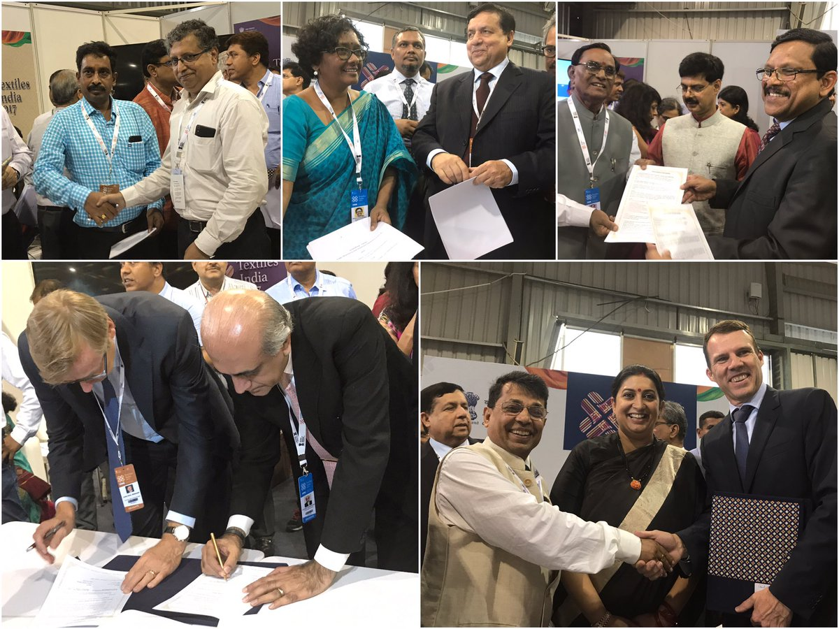 Textile India 2017: Irani hails Gujarat as best place for textile Industry, 65 MoUs singed on day 2