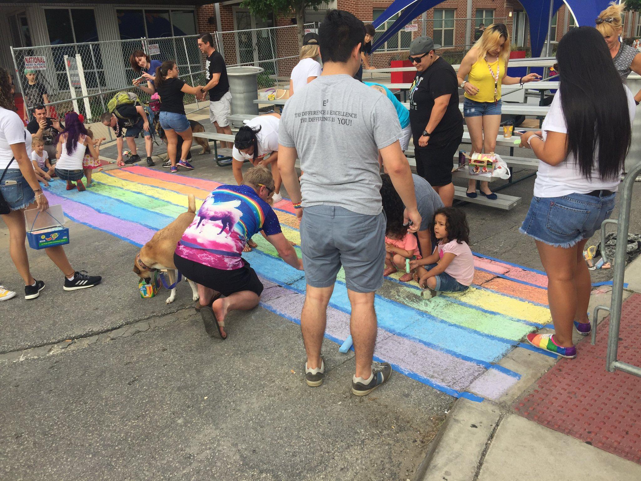 Pride Chalk It Up is underway! https://t.co/pyxXQdbhSa