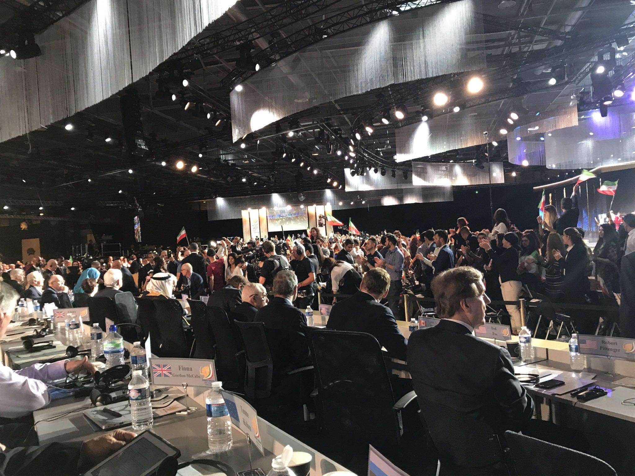 Strong bipartisan U.S. delegation at Paris #FreeIran Rally, Joe Lieberman, Newt Gingrich, Ed Rendell, Rudy Giuliani, Tom Ridge, Louis Freeh https://t.co/cFibhxGDca