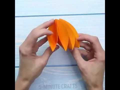 DIY colorful paper umbrellas