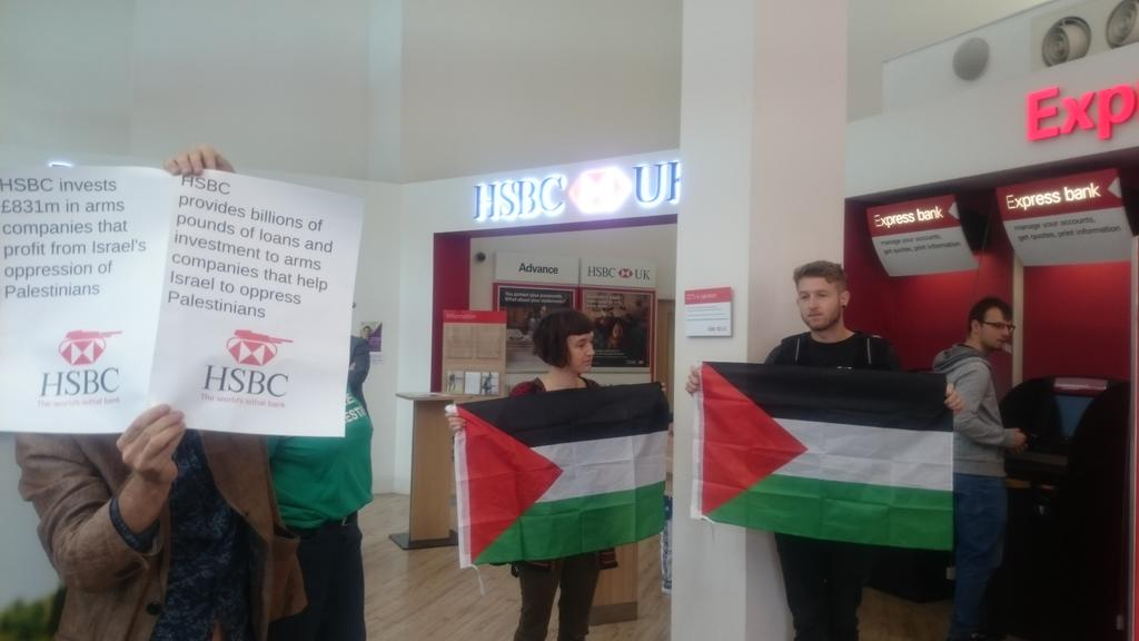 We're paying #HSBC #Brighton a visit!  #StopArmingIsrael https://t.co/EhWB4NpWgG