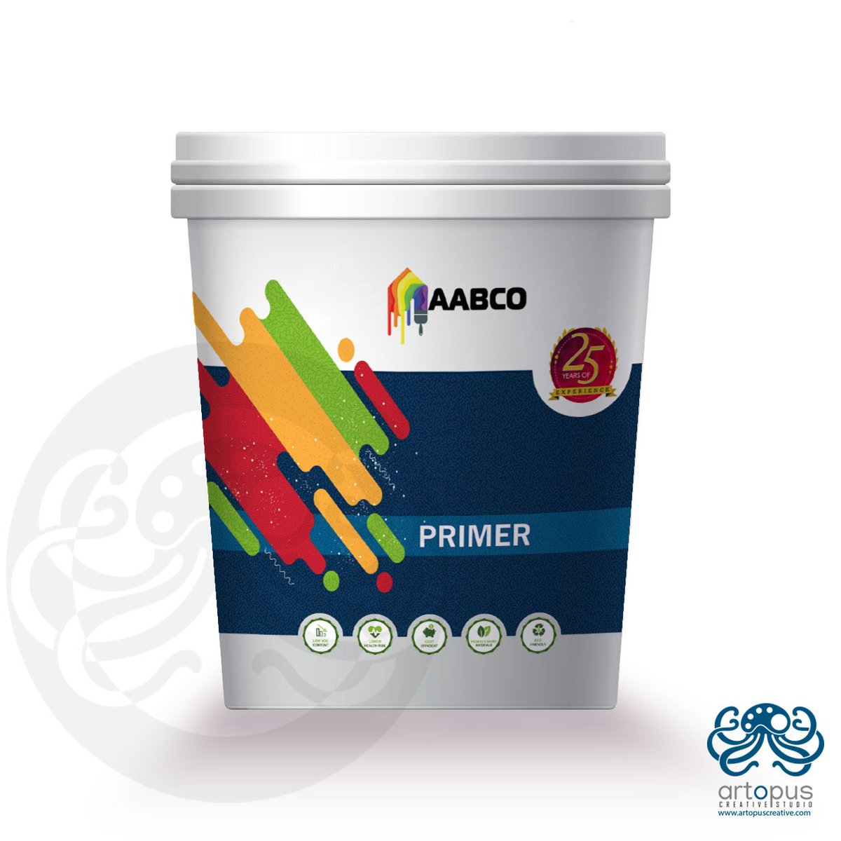 Artopus Creative On Twitter Aabco Eco Primer Paint Bucket Design Package Paint Bucket Design Graphics