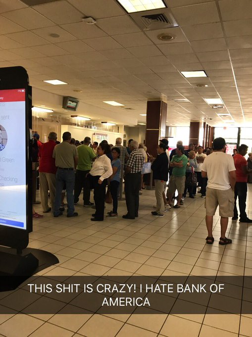 They need live cams @BankofAmerica so I can see which branch has a shorter line. This is not it. 😤 https://t