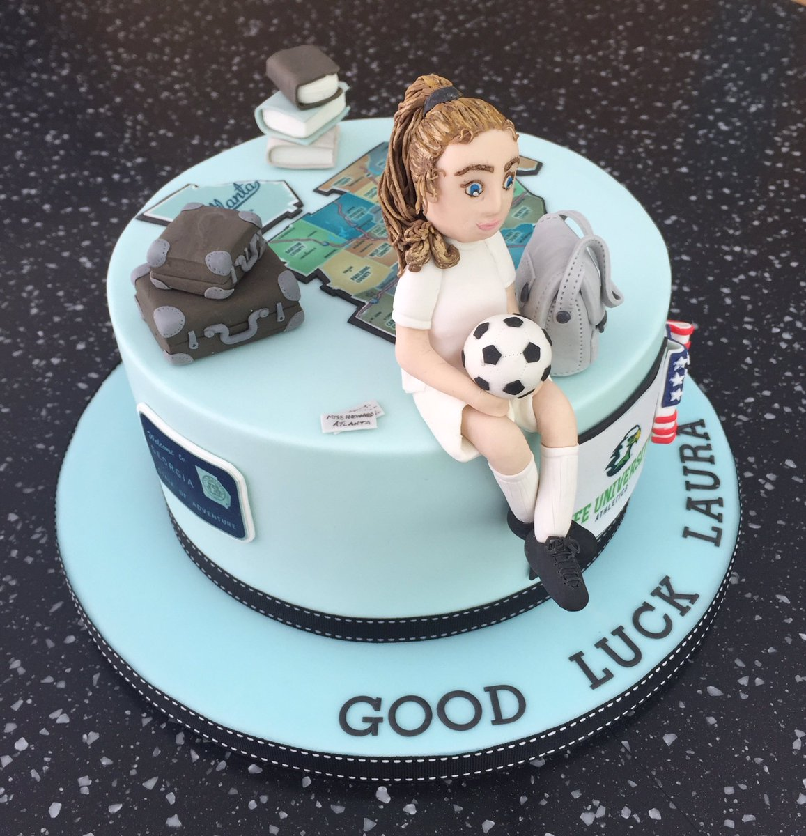 Cake Mad on Twitter A Good Luck cake for a lucky young lady off to