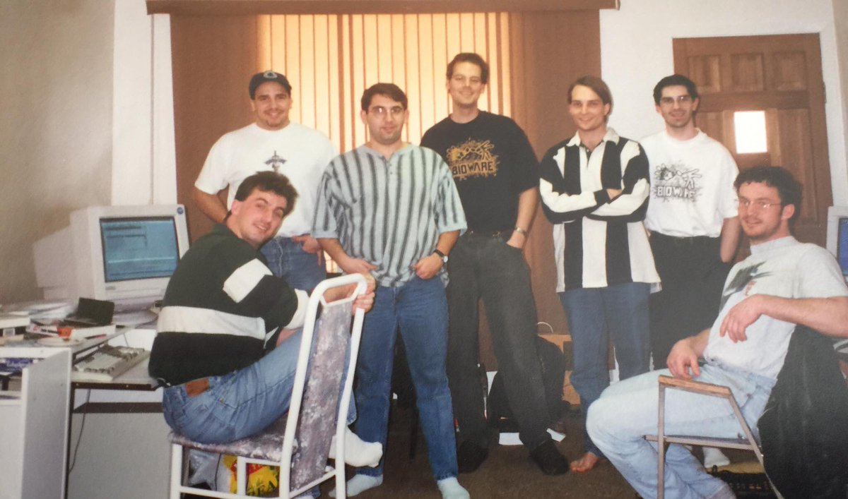 I believe this is the first Bioware picture ever taken. Look at those thin faced youths https://t.co/9DISz0oceL