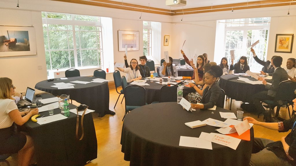 #ModelUN students at @regentsuni  doing a fantastic job - Security Council currently in session.