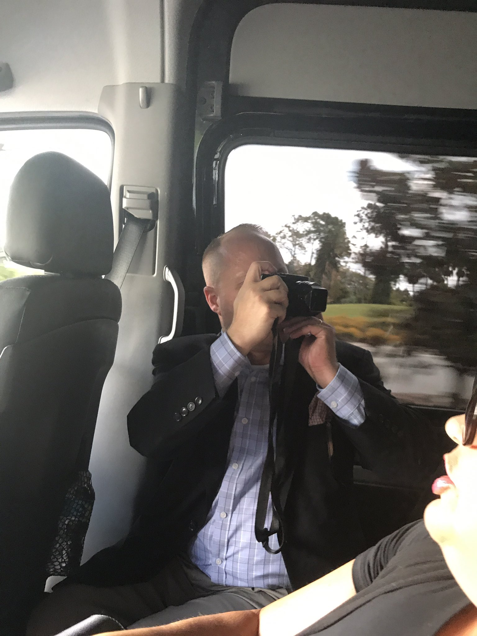 .@TeakPhillips has already started chronicling the #CatholicConvo...from the shuttle. #CatholicSTL #Catholic https://t.co/Q4zQ1iGyxw