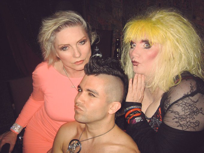 Happy birthday Debbie Harry !!!  (yes this is me, Debbie and Jayne County in 2008)