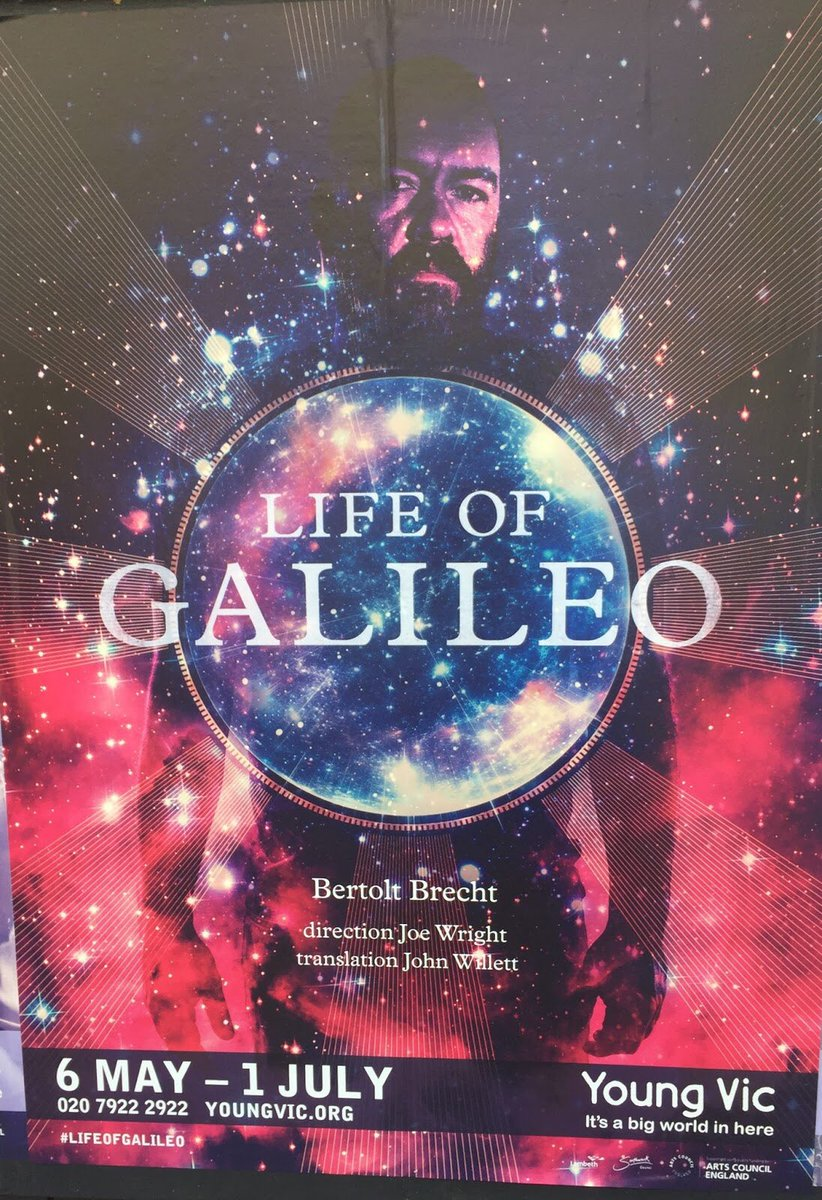 Masterclass in bringing Brecht to life to new audiences #LifeofGalileo - stunning! Brilliant music, cast, puppetry &amp; planetarium projections <br>http://pic.twitter.com/nZ5Hpf1EbZ &ndash; bij Young Vic Theatre