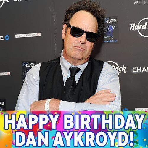 Who you gonna call? Dan Aykroyd! Wishing a happy birthday to one of the original Ghostbusters.