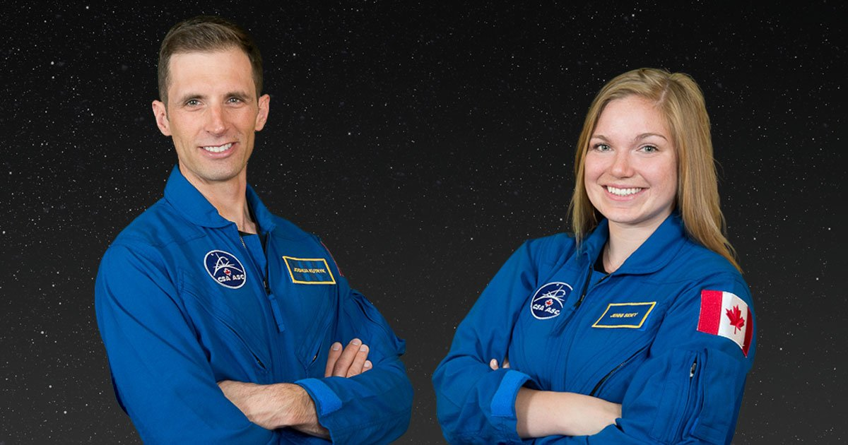 The Canadian Space Agency selected Joshua Kutryk and Jenni Sidey to #BeTheNextCDNAstro! https://t.co/aKMU9yEAQi https://t.co/O85NWMKwHH