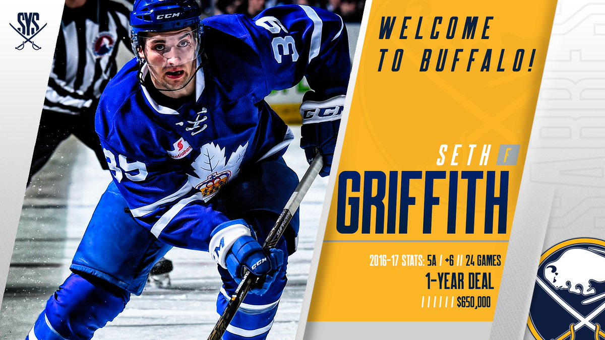 Buffalo Sabres On Twitter Another Signing Welcome Seth Griffith