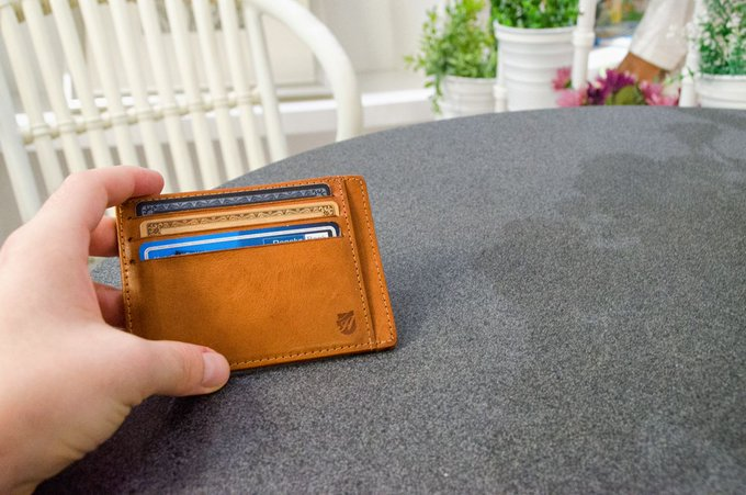 Axess Minimalist Front Pocket Wallets in Tuscany Leather