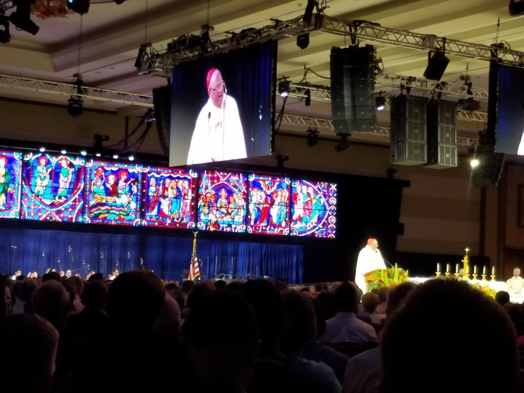 @CardinalDolan presides and gives homily for #CatholicConvo opening Mass.  #CatholicSTL is still proud of our hometown boy! @archstl https://t.co/E0AZcQGuZO