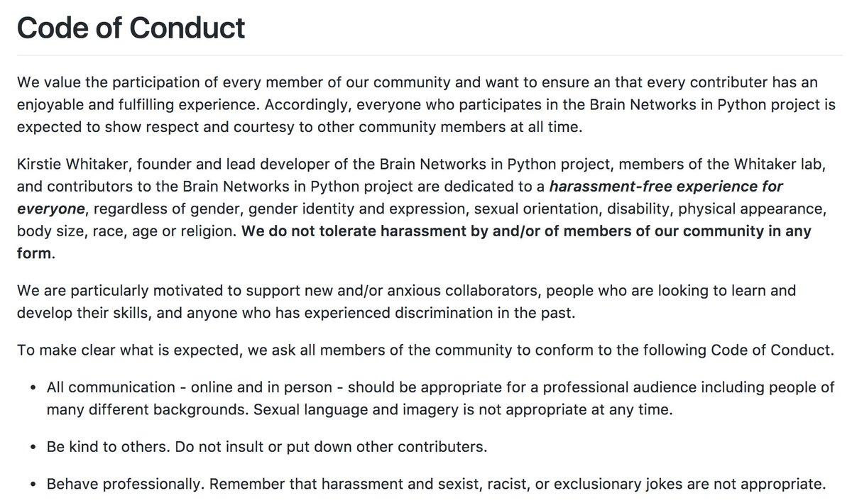 Sophie Adler On Twitter Lovely Example Of A Code Of Conduct For