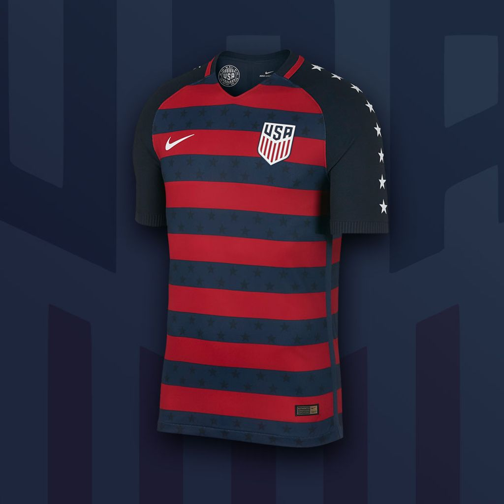 fbd794720  Nike  USA 2017  GoldCup jersey is now available! Authentic version only.  Drape yourself in the Stars and Stripes  http   sc.cr 2sdwXw1  pic.twitter.com  ...