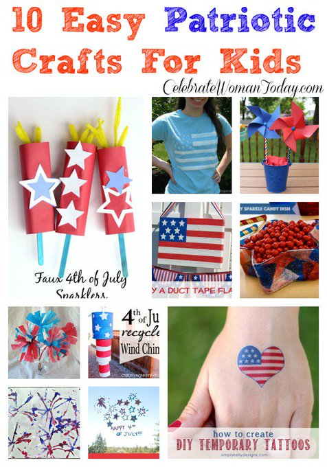 10 Easy Patriotic Crafts For Kids #HeartThis #July4th