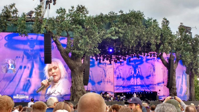 Happy birthday to Debbie Harry. Here she is yesterday in Hyde Park singing Maria in front of a bunch of Marias: