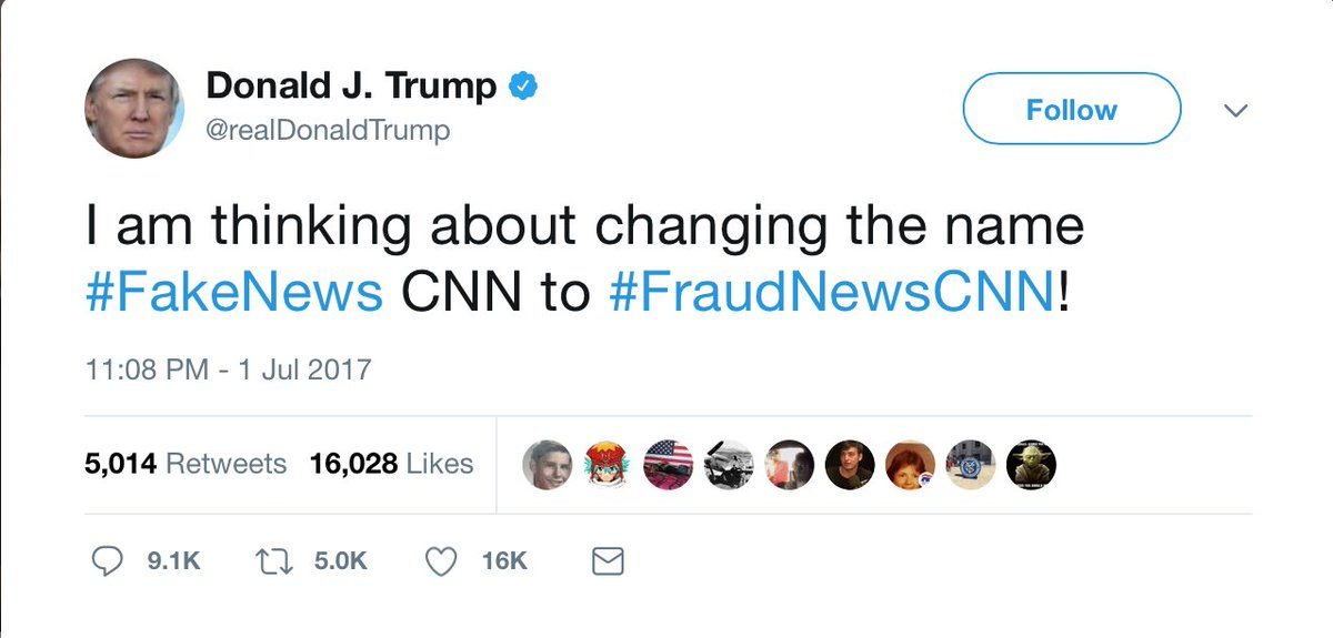 Nothing to worry about here. Just the man with the nuclear codes, keeping us all updated on which insulting hashtag he's considering next.
