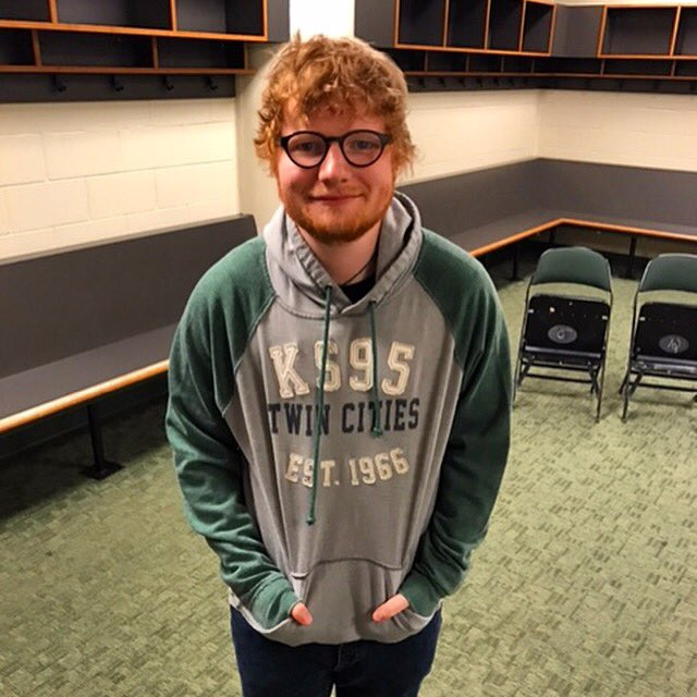 Thanks for hanging out with us, @edsheeran!! Can't wait for the show!!  #KS95EdSheeran @CriscoRadio @XcelEnergyCtr https://t.co/3WP63Grv7a