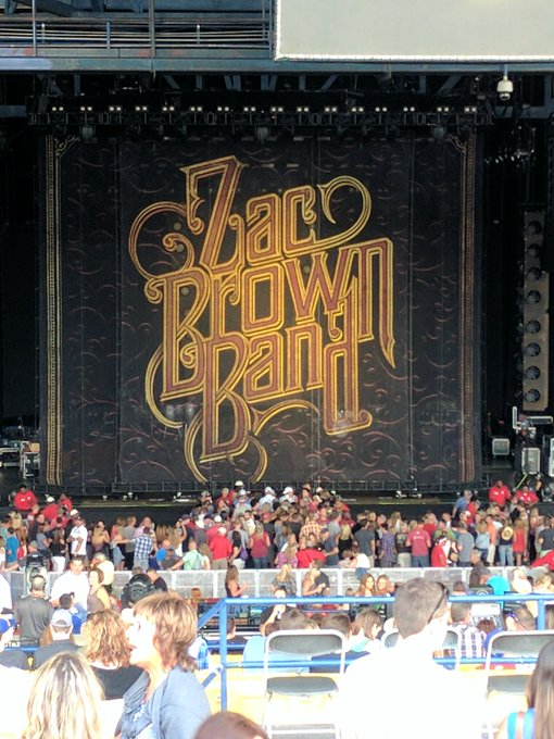 Happy birthday Grams! Love you! (@ Marcus Amphitheater - for Zac Brown Band)