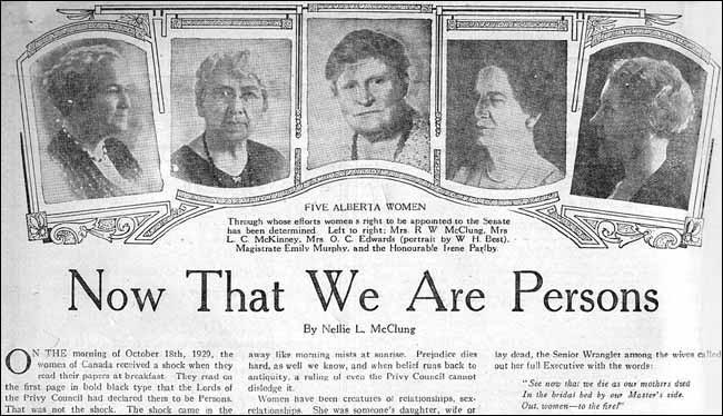 "22. And it was a *British* court — overruling the Canadian Supreme Court — that ruled Canadian women were ""persons"" in 1929. https://t.co/VDTzTcm2wf"
