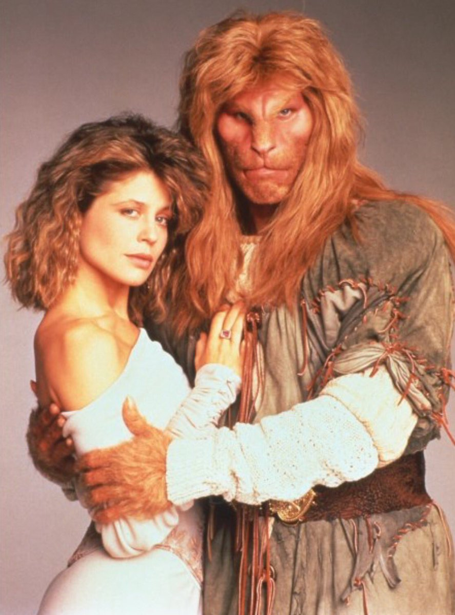 BEAUTY AND THE BEAST TV SERIES Linda Hamilton Ron Perlman