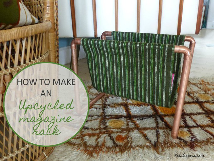 How to make an upcycled magazine rack using copper pipe
