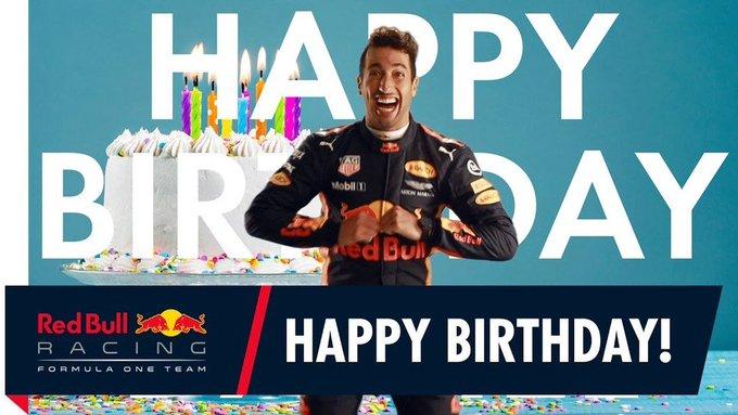 Birthday Daniel Ricciardo!