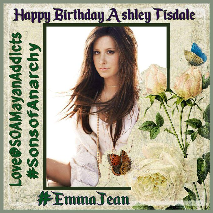 please join us in wishing Ashley Tisdale a Happy birthday .