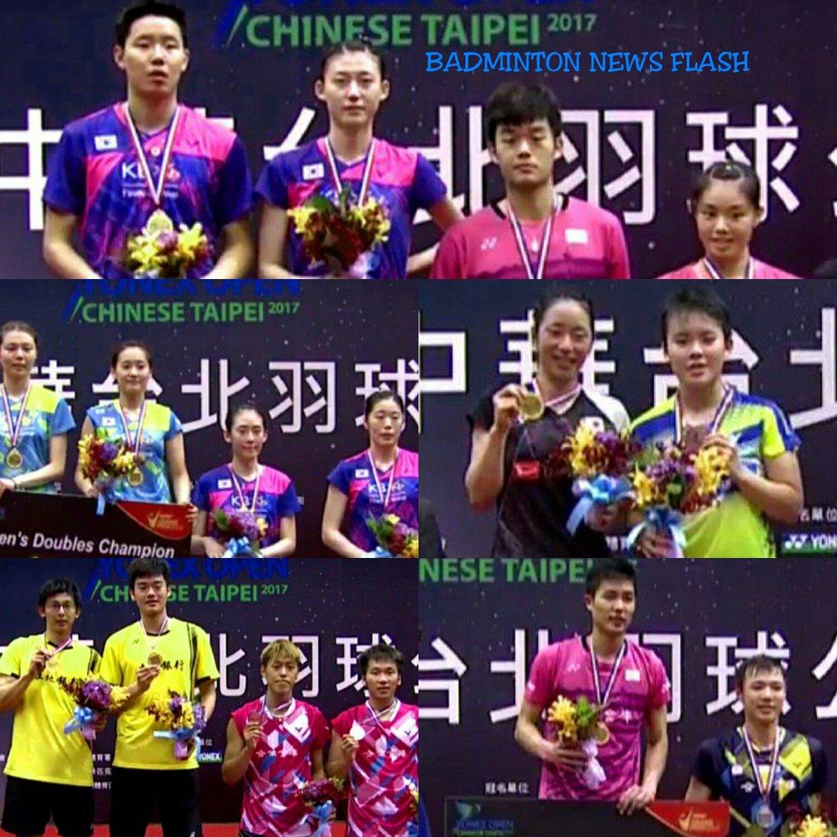 "Badminton News Flash on Twitter ""Juara TaipeiGPG 2017 Chou Tien"