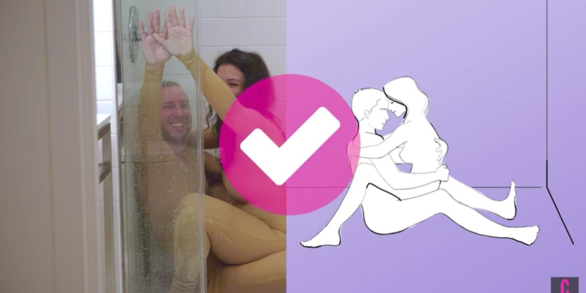 different sex positions in the shower