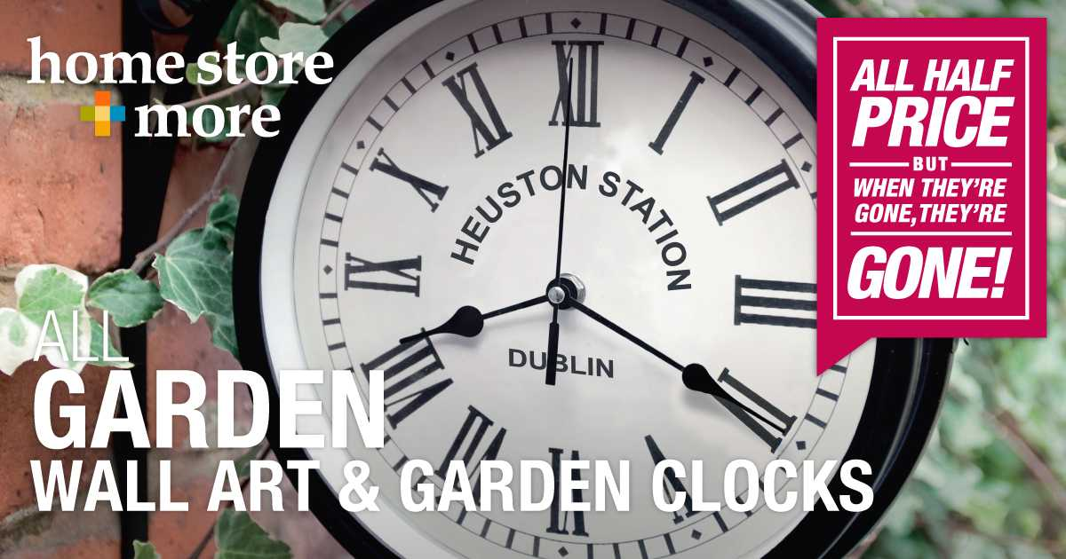 Home store more on twitter jazz up any outdoor space with some garden wall art or a garden clock all half price this july https t co 1ms0jsr4kl