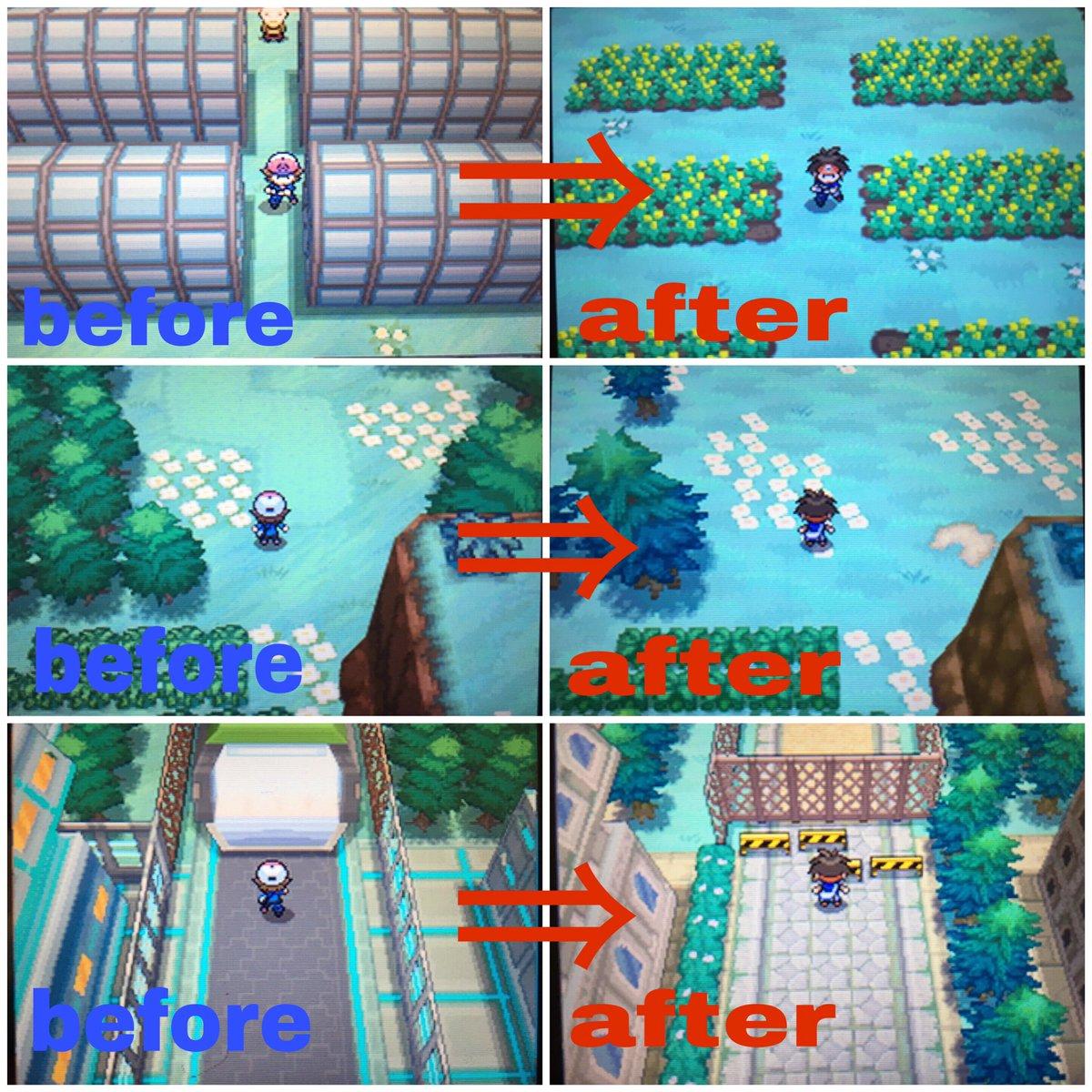 """たくみ@Pokemon auf Twitter: """"~イッシュ地方2年間の変化~ before(BW ..."""