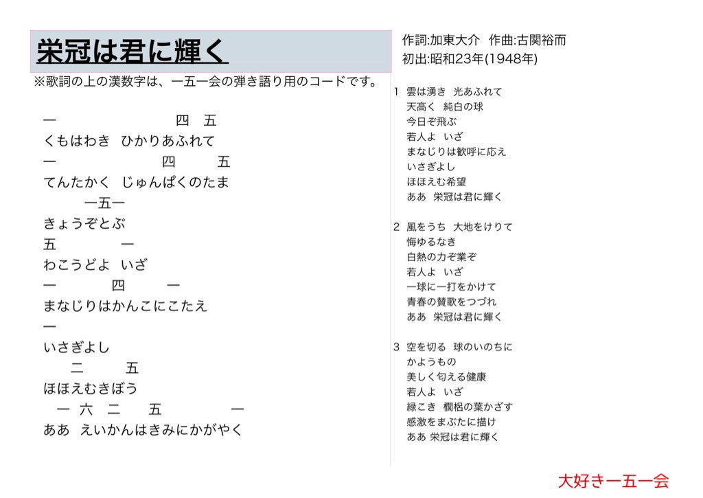 【ヤマハ】「栄冠は君に輝く」の楽譜・商品一覧( …