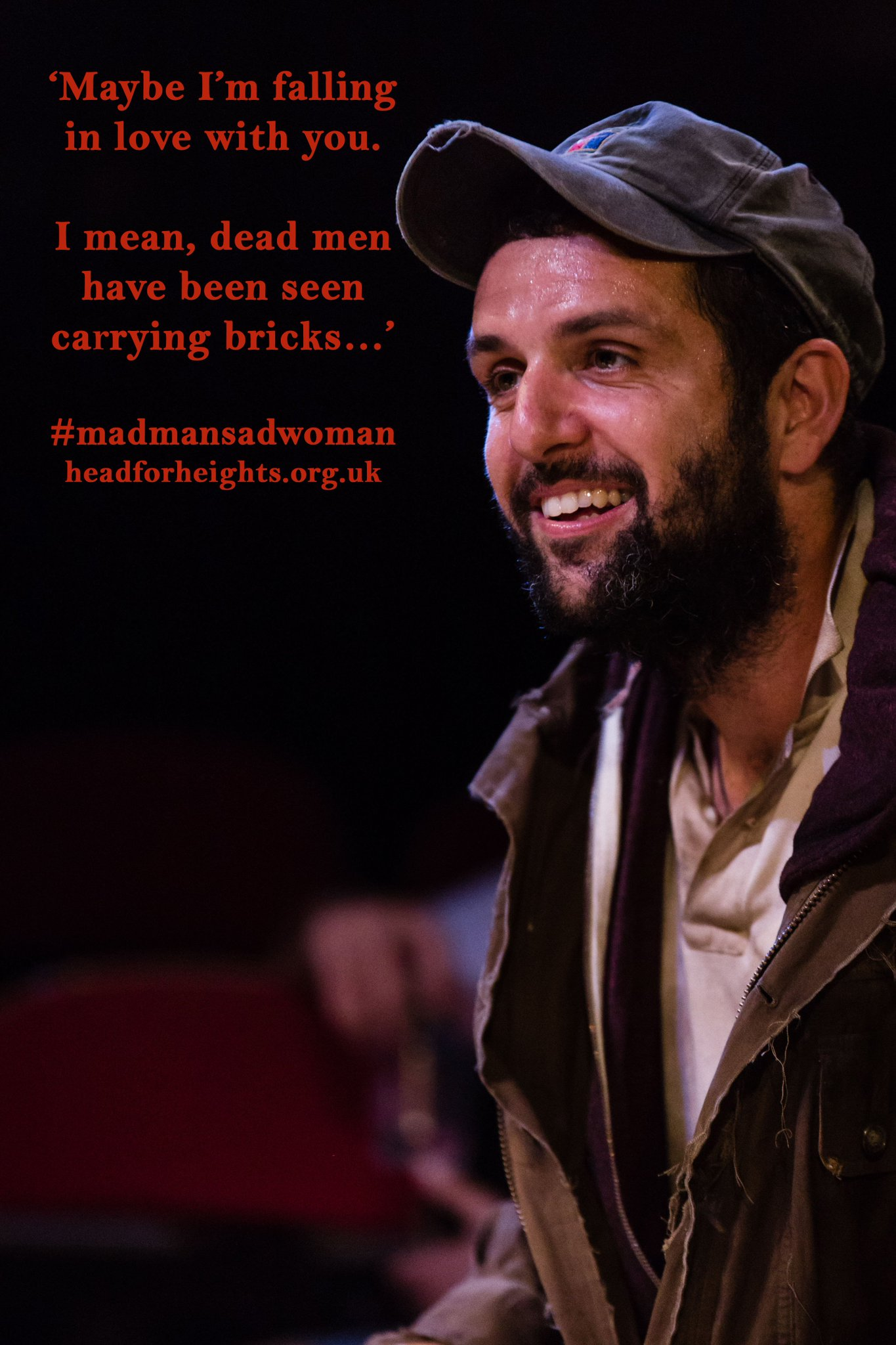Our Huinca (Bil Stuart), ever the charmer... #madmansadwoman @SpaceArtsCentre https://t.co/07k0onC7E2
