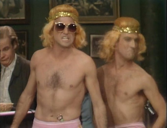 Happy 70th birthday to Larry David, 1 half of satirical early-80s villainous tag team The Golden Boys.