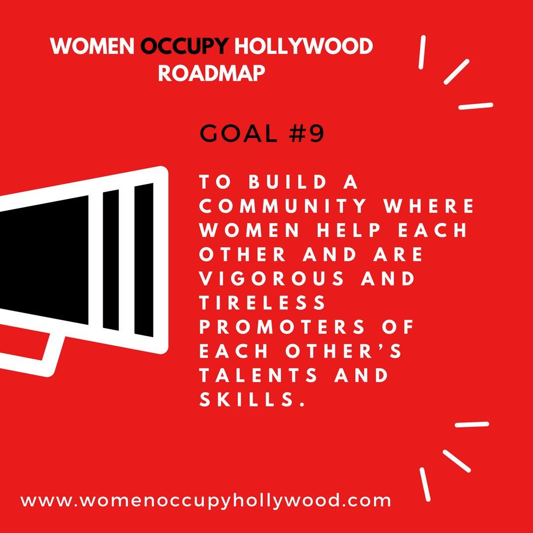 WOH ROADMAP Goal #9 YES! THIS! Join http://womenoccupyhollywood.com pic.twitter.com/1SoLOrQNVE