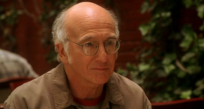New happy birthday shot What movie is it? 5 min to answer! (5 points) [Larry David, 70]