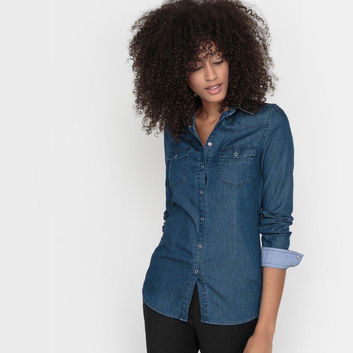 Vintage jeanshemd damen