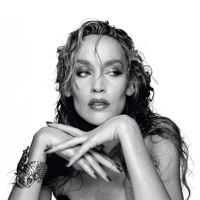 Happy Birthday Jerry Hall! Here\s one from a London studio in the late 80\s.