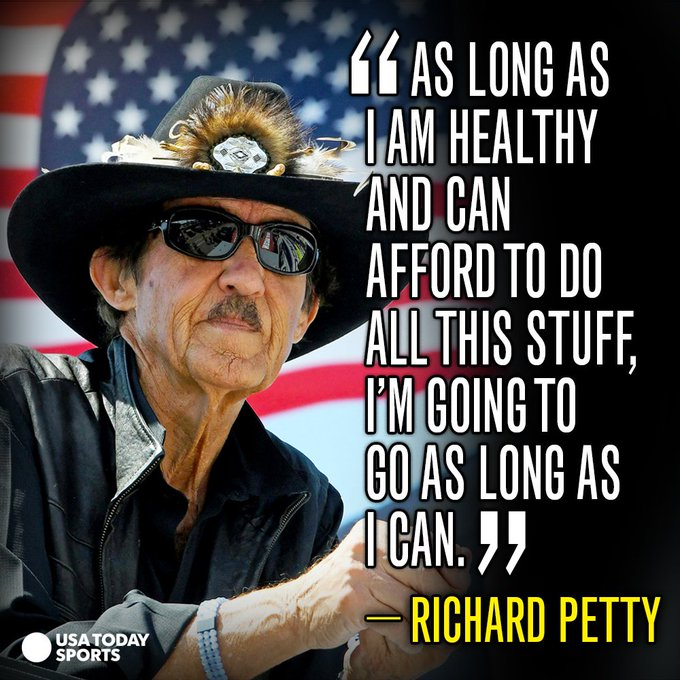 Happy Birthday, Richard Petty, who is still in the fast lane.