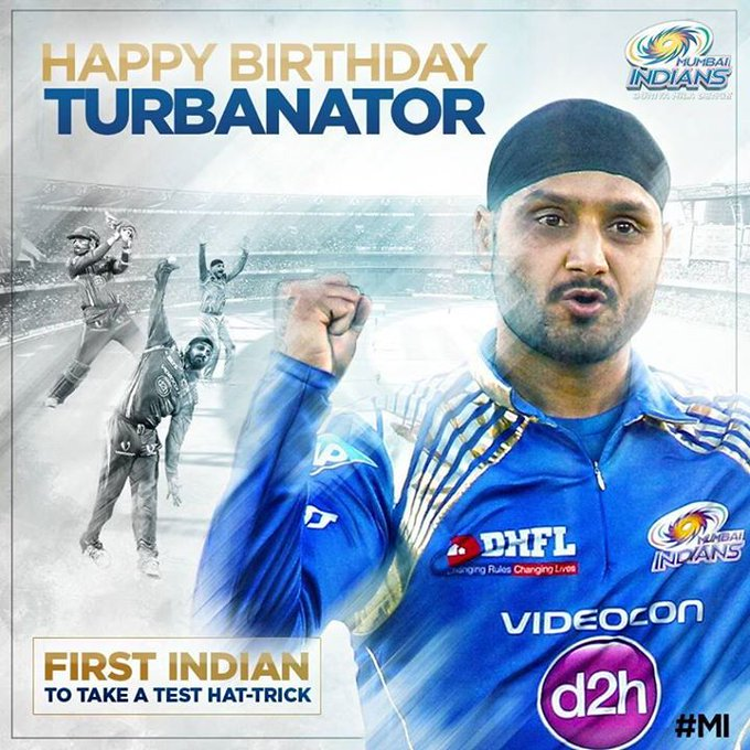 MUMBAI INDIANS Paltan wishes a Very HAPPY BIRTHDAY    to Harbhajan Singh Plaha ....