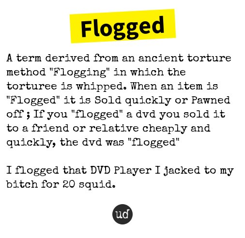 Flogging urban dictionary