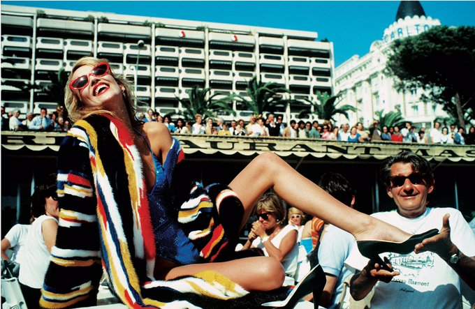 Happy Birthday Jerry! Jerry Hall shot by Bailey at the Film Festival in Cannes, France 1983