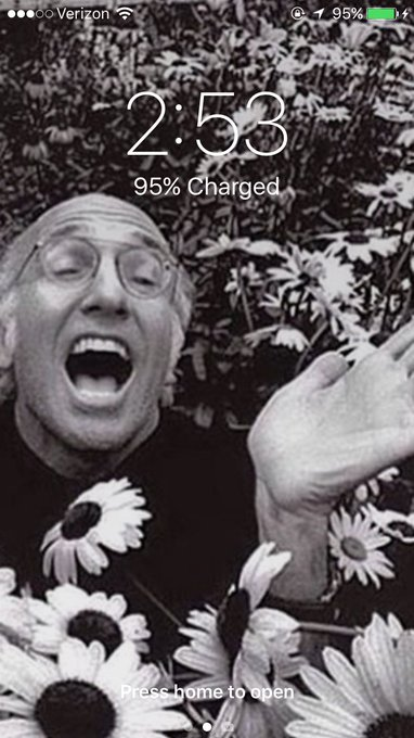 Happy birthday to the man who will always be my iPhone background. @ Larry David