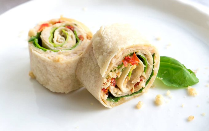 Sun-Dried Tomato, Basil, and Spinach Pinwheels [Vegan, Gluten-Free]