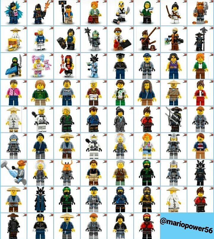 "Mario Power on Twitter: ""All lego ninjago movie minifigures #lego ..."