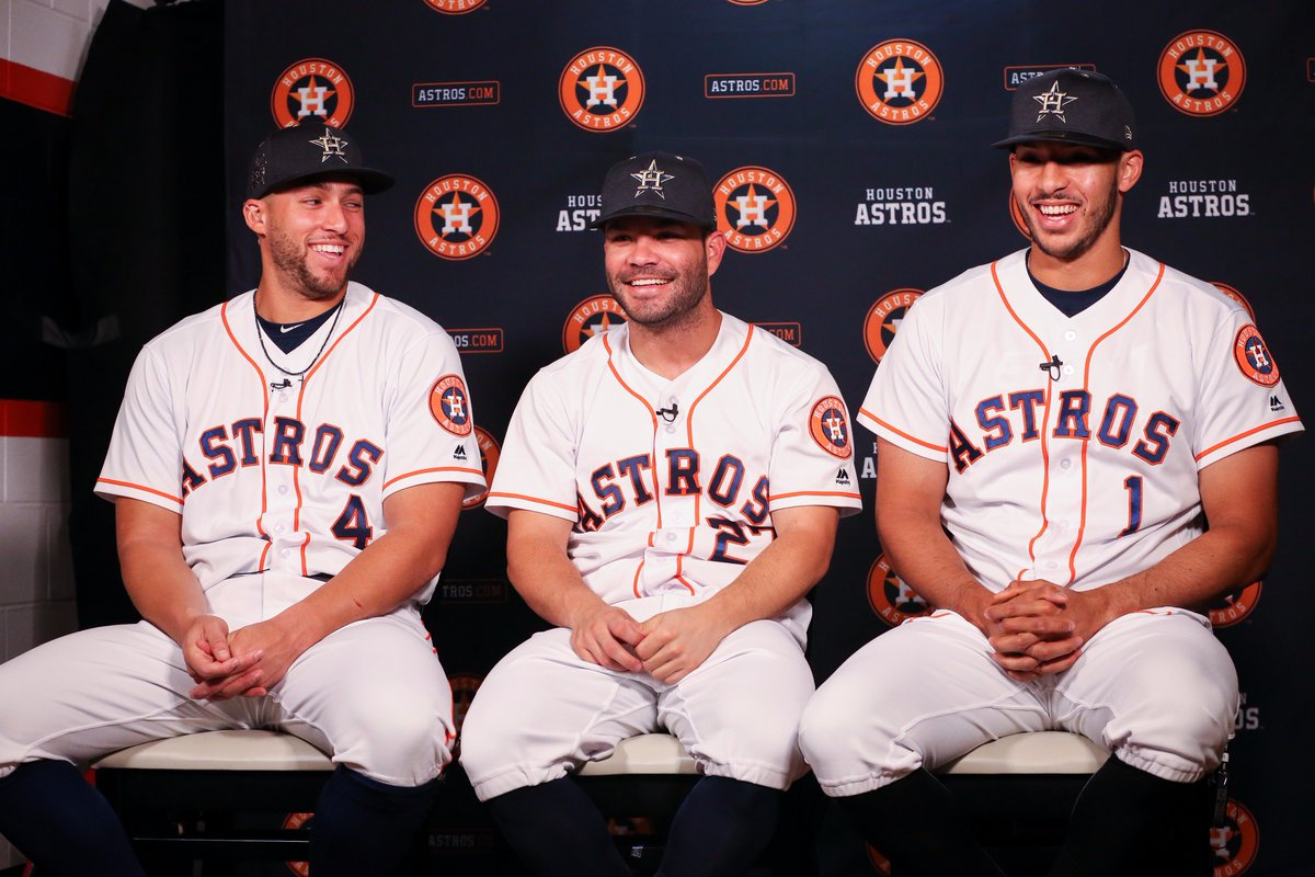 Your three #Astros starters in the 2017 @AllStarGame!